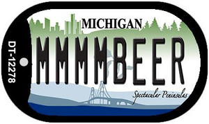 Michigan MMMMBeer Wholesale Novelty Metal Dog Tag Necklace DT-12278