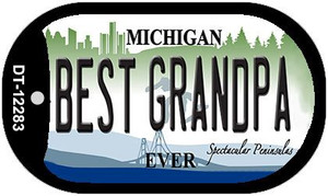 Michigan Best Grandpa Wholesale Novelty Metal Dog Tag Necklace DT-12283