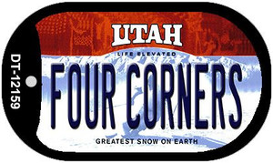 Utah Four Corners Wholesale Novelty Metal Dog Tag Necklace DT-12159