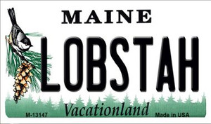 Lobstah Maine Wholesale Novelty Metal Magnet M-13147