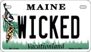 Wicked Maine Wholesale Novelty Metal Motorcycle Plate MP-13148