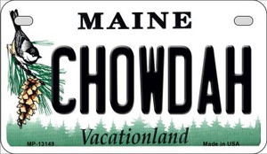 Chowdah Maine Wholesale Novelty Metal Motorcycle Plate MP-13149