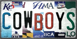 Cowboys Strip Art Wholesale Novelty Metal License Plate Tag LP-13151