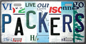 Packers Strip Art Wholesale Novelty Metal License Plate Tag LP-13153