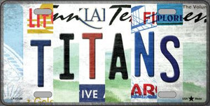 Titans Strip Art Wholesale Novelty Metal License Plate Tag LP-13156