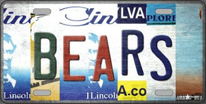Bears Strip Art Wholesale Novelty Metal License Plate Tag LP-13163