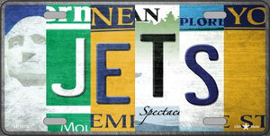 Jets Strip Art Wholesale Novelty Metal License Plate Tag LP-13170
