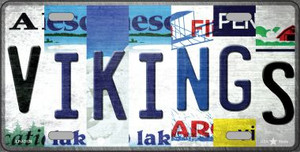 Vikings Strip Art Wholesale Novelty Metal License Plate Tag LP-13178