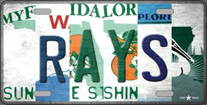 Rays Strip Art Wholesale Novelty Metal License Plate Tag LP-13206
