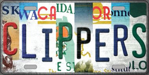 Clippers Strip Art Wholesale Novelty Metal License Plate Tag LP-13223