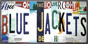 Blue Jackets Strip Art Wholesale Novelty Metal License Plate Tag LP-13260