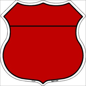 Red|Black Plain Highway Shield Wholesale Metal Sign HS-008