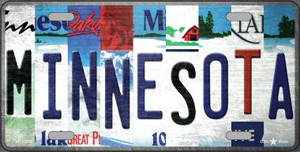 Minnesota Strip Art Wholesale Novelty Metal License Plate Tag LP-13290