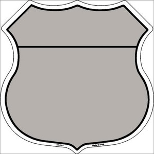 Gray|Black Plain Highway Shield Wholesale Metal Sign HS-009