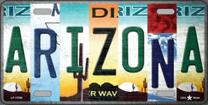 Arizona Strip Art Wholesale Novelty Metal License Plate Tag LP-13306