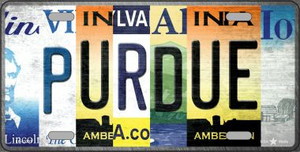 Purdue Strip Art Wholesale Novelty Metal License Plate Tag LP-13307