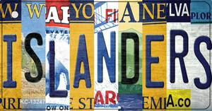 Islanders Strip Art Wholesale Novelty Metal Key Chain KC-13247
