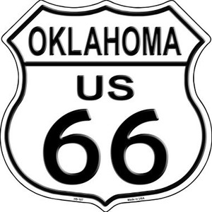 Oklahoma Route 66 Highway Shield Wholesale Metal Sign HS-107