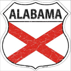 Alabama State Flag Highway Shield Wholesale Metal Sign