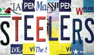 Steelers Strip Art Wholesale Novelty Metal Magnet M-13152