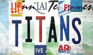 Titans Strip Art Wholesale Novelty Metal Magnet M-13156