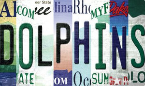 Dolphins Strip Art Wholesale Novelty Metal Magnet M-13162