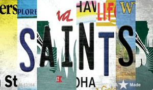 Saints Strip Art Wholesale Novelty Metal Magnet M-13164