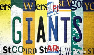Giants Strip Art Wholesale Novelty Metal Magnet M-13165