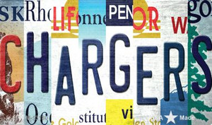 Chargers Strip Art Wholesale Novelty Metal Magnet M-13180