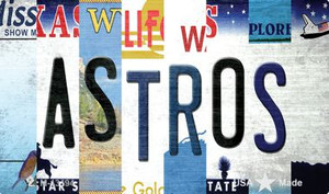 Astros Strip Art Wholesale Novelty Metal Magnet M-13194