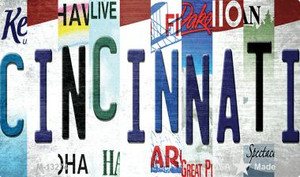 Cincinnati Strip Art Wholesale Novelty Metal Magnet M-13274