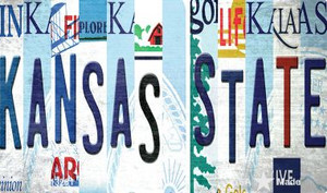 Kansas State Strip Art Wholesale Novelty Metal Magnet M-13281