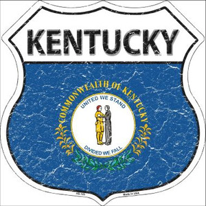 Kentucky State Flag Highway Shield Wholesale Metal Sign