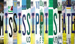 Mississippi State Strip Art Wholesale Novelty Metal Magnet M-13291