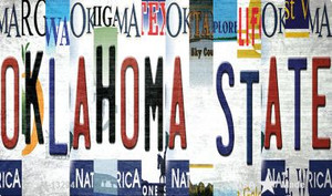 Oklahoma State Strip Art Wholesale Novelty Metal Magnet M-13294
