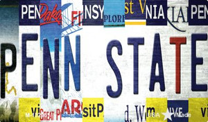 Penn State Strip Art Wholesale Novelty Metal Magnet M-13296