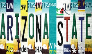 Arizona State Strip Art Wholesale Novelty Metal Magnet M-13305