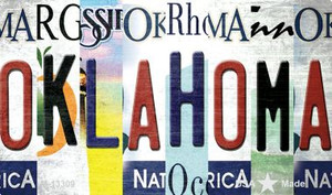 Oklahoma Strip Art Wholesale Novelty Metal Magnet M-13309