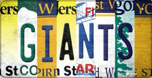 Giants Strip Art Wholesale Novelty Metal Bicycle Plate BP-13165