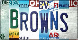 Browns Strip Art Wholesale Novelty Metal Bicycle Plate BP-13175