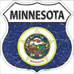 Minnesota State Flag Highway Shield Wholesale Metal Sign