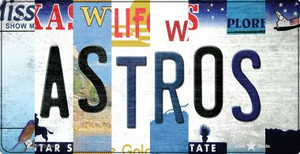 Astros Strip Art Wholesale Novelty Metal Bicycle Plate BP-13194