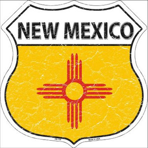 New Mexico State Flag Highway Shield Wholesale Metal Sign