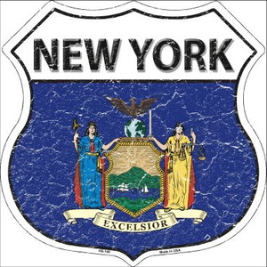 New York State Flag Highway Shield Wholesale Metal Sign