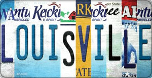 Louisville Strip Art Wholesale Novelty Metal Bicycle Plate BP-13283