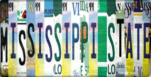 Mississippi State Strip Art Wholesale Novelty Metal Bicycle Plate BP-13291