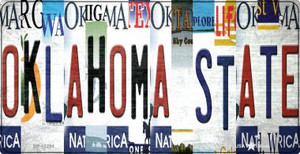 Oklahoma State Strip Art Wholesale Novelty Metal Bicycle Plate BP-13294