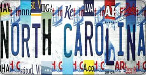 North Carolina Strip Art Wholesale Novelty Metal Bicycle Plate BP-13302