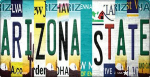 Arizona State Strip Art Wholesale Novelty Metal Bicycle Plate BP-13305