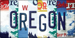 Oregon Strip Art Wholesale Novelty Metal Bicycle Plate BP-13310